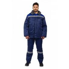 Куртка зимняя Бригада СОП (тк.Смесовая,210), т.синий/васильковый