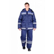 Костюм зимний мужской Горизонт-Люкс (тк.Смесовая,210) брюки, т.синий/васильковый