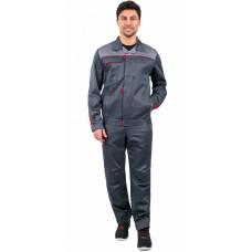Костюм Фаворит-1 брюки, т.серый/серый