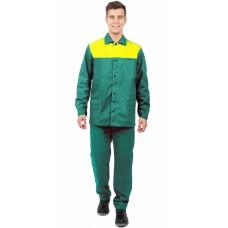 Костюм Труженик брюки, зеленый/желтый