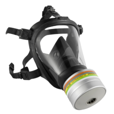 Маска полнолицевая Оптифит Honeywell, силиконовая с возможностью использования фильтров с резьбовым соединением RD40, размер M