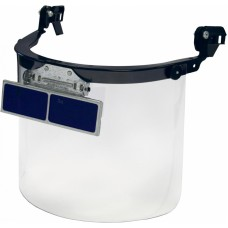 Щиток защитный РОСОМЗ™ КБТ ВИЗИОН TITAN с козырьковыми очками ОК3 4-7, 80353