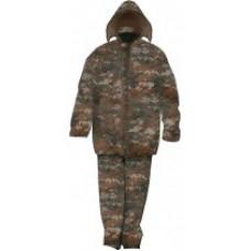 """Плащ дождевик с капюшоном, карманами и штанами """"Камуфляж"""", размер XXL"""