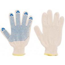 Перчатки вязаные ХБ с ПВХ 3 нити