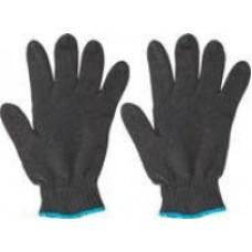 Перчатки вязаные утепленные черные х/б