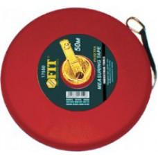 Рулетка фиброглассовая лента, красная 20 м