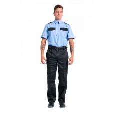 Рубашка охранника с коротким рукавом мужская, голубой