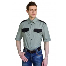 Рубашка охранника с коротким рукавом мужская, зеленый