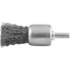 Корщетка кистевая, для дрели со шпилькой, стальная проволока, 24 мм
