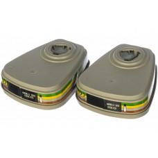 Фильтр 3М модель 6059 класс защиты А1В1Е1К1 комплект 2 шт.