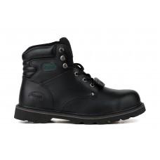 """Ботинки рабочие с металлоподноском """"Hummer"""" черного цвета на подошве из резины"""