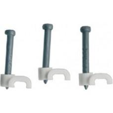 Скобы для кабеля плоские 10 мм, 40 шт.