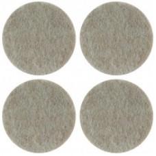 Подкладки для мебели самоклеющиеся круглые 34 мм, 4 шт, войлок