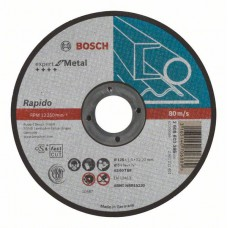 Круг отрезной по металлу 125х22.2х1 мм, прямой Bosch 2608603396