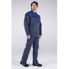 Костюм Труженик (тк.Смесовая,210) брюки, т.синий/васильковый