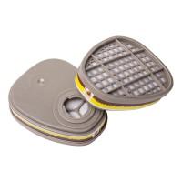 6540 Фильтр противогазовый Jeta Safety для защиты от органических и кислых газов класса A1Е1, в упаковке 2 шт