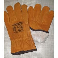 Перчатки зимние спилковые «Драйвер» синтепон