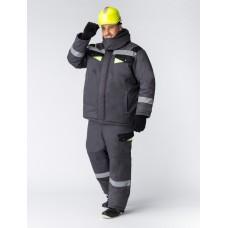 Костюм зимний Ховард (Балтекс, 210) брюки, темно-серый/лимон