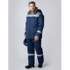 Костюм зимний Легион-Ультра СОП (Смесовая, 210) брюки, темно-синий/серый