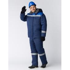 Костюм зимний Легион-Ультра СОП (Смесовая, 210) брюки, темно-синий/васильковый