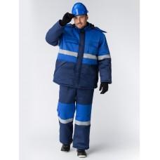 Костюм зимний Профи-Норд (Смесовая, 250) п/к, темно-синий/васильковый