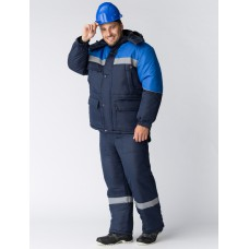 Костюм зимний Сибер СОП (Балтекс, 210) п/к, темно-синий/васильковый
