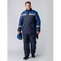 Костюм зимний Стандарт (Оксфорд) брюки, темно-синий/васильковый