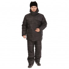 Костюм зимний Викинг (тк.Блэйзер мембрана) брюки ПРАБО, черный (Кос201)