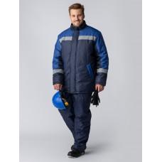 Куртка зимняя Стандарт (Оксфорд), темно-синий/васильковый