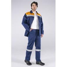 Костюм Стандарт СОП (тк.Смесовая,210) брюки, т.синий/оранжевый
