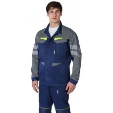 Куртка удлиненная мужская PROFLINE BASE, т.синий/серый