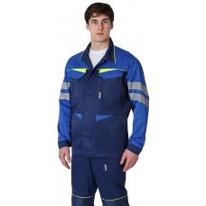 Куртка удлиненная мужская PROFLINE BASE, т.синий/васильковый