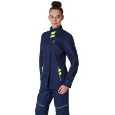 Куртка удлиненная женская PROFLINE SPECIALIST (тк.Саржа), т.синий