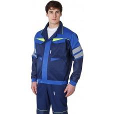 Куртка укороченная мужская PROFLINE BASE, т.синий/васильковый