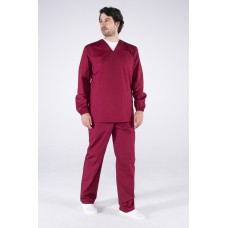 Мужской костюм ХАССП-База (ткань ТиСи, 120), бордовый