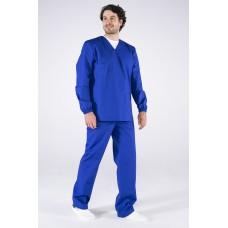 Мужской костюм ХАССП-База (ткань ТиСи, 120), васильковый