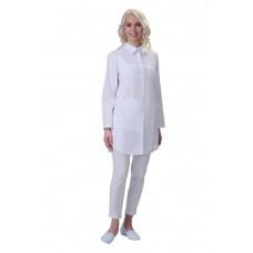 Халат женский №256 (тк.ТиСи) DoctorBIG, белый (0)