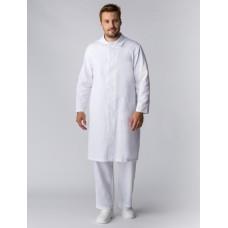 Мужской халат ХАССП-Премиум (ткань Салюс, 210), белый
