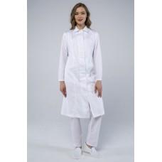 Женский халат ХАССП-Премиум (ткань Салюс, 210), белый