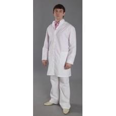 Халат мужской Антистатика NOLLET, белый (ХМС.205)