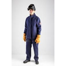 Костюм сварщика усиленный Волат-У 2 кл.защиты (тк.Хлопок-ОП,450) брюки, т.синий