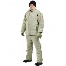 Костюм сварщика зимний 1 класс защиты (Брезент, 480), бежевый