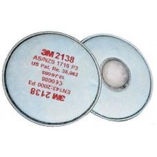 Фильтр противоаэрозольный 3М модель 2138 класс защиты Р3, 80 шт/кор