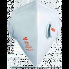 Полумаска фильтрующая Uvex силв-Эйр 3210, FFP2, с клапаном, складная, белая
