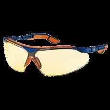 очки открытые Uvex Ай-Во; линза: Суправижн Сапфир, янтарная, 2С-1,2; оправа: сине-оранжевая