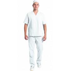 Костюм мужской хирурга (тк.ТиСи), белый