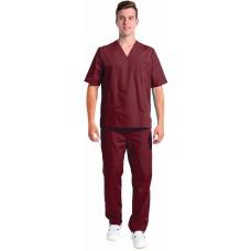 Костюм мужской хирурга (тк.ТиСи), бордовый