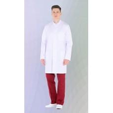 Халат мужской №502 DoctorBIG, белый/серый
