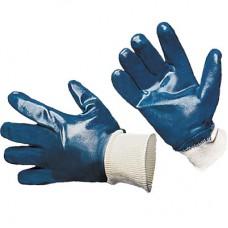 Перчатки нитриловые (синие) полное покрытие ЛЮКС (резинка)