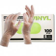 Перчатки виниловые (50 пар в упак.)